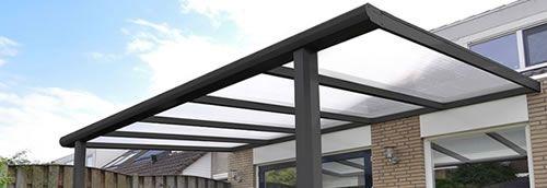 Usos del Policarbonato pérgolas, techos y cubiertas en policarbonato, pasos cubiertos en policarbonato