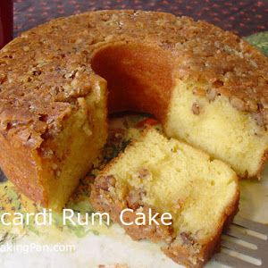 Bacardi Rum Cake With Walnuts, Yellow Cake Mix, Large Eggs, Cold Water, Vegetable Oil, Dark Rum, Unsalted Butter, Water, Granulated Sugar, Dark Rum