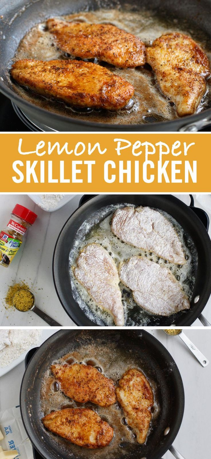 Busy weeknight? We've got you covered with this four-ingredient Lemon Pepper one-pan chicken recipe.