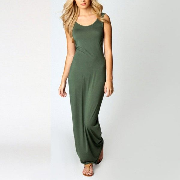 8 colors available, Women Sexy Sleeveless Bodycon Party Long Maxi Dress Summer Beach Dresses Vestidos-in Dresses from Women's Clothing & Accessories