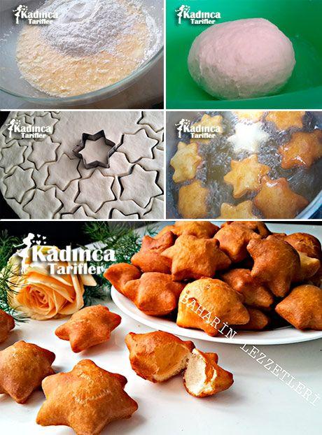 Bişi Tarifi **Anyagok bagel recept A tésztához; 1 tojás, 1 csésze joghurt, 1 csomag sütőpor (10 g), 3 csésze liszt, Sót. a sütéshez; Rengeteg olajat.