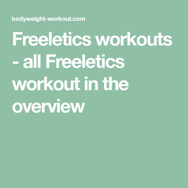 Freeletics workouts - all Freeletics workout in the overview