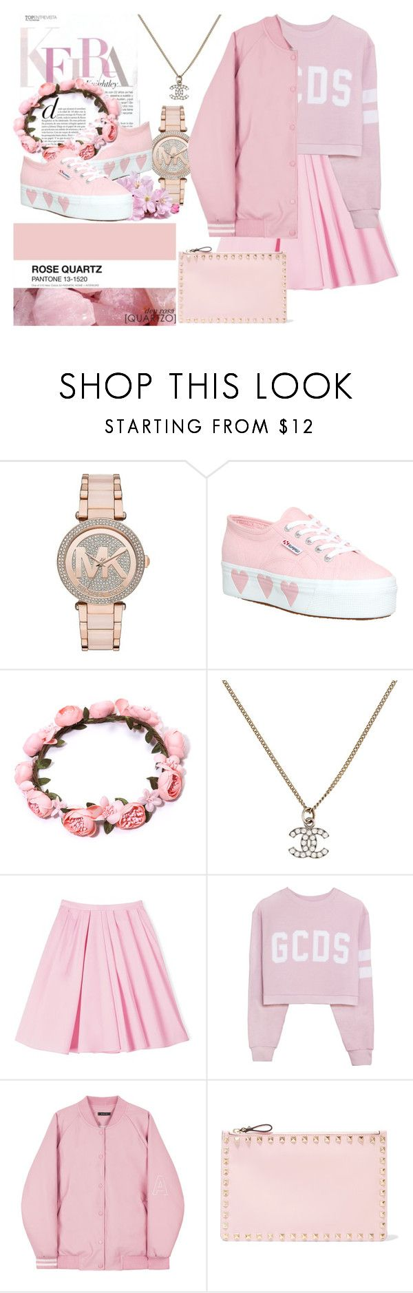 Untitled #194 by denisa-marcu on Polyvore featuring Carven, Superga, Valentino, Chanel, Michael Kors, women's clothing, women's fashion, women, female and woman
