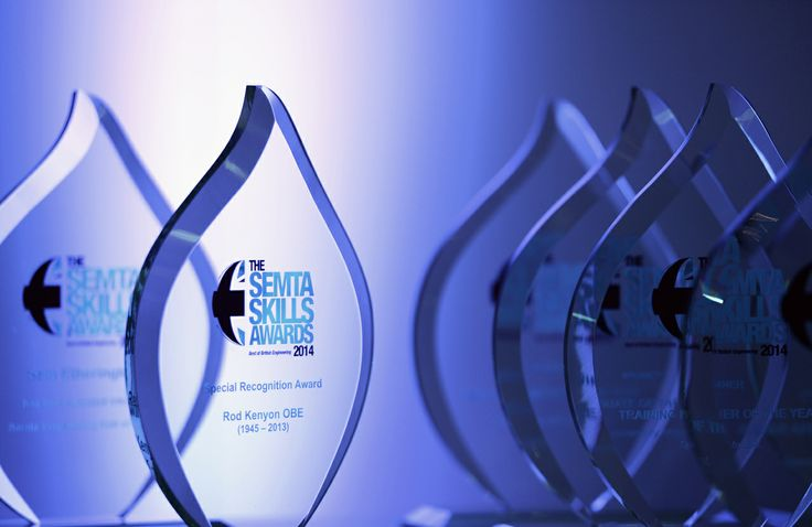 Semta Skills Awards trophies