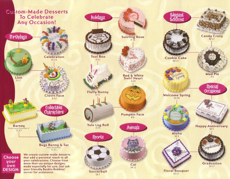 BR ice cream cakes