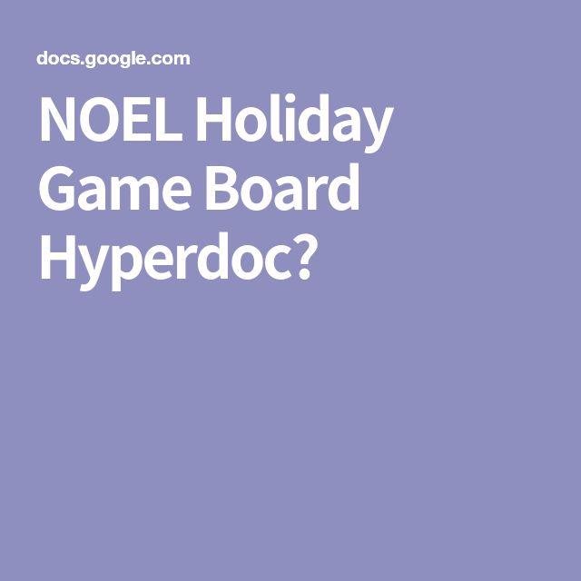 NOEL Holiday Game Board Hyperdoc🎄