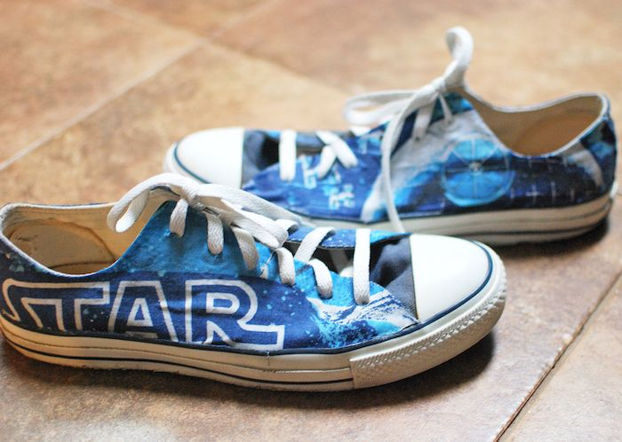 DIY Star Wars converse shoes #crafts #handmade #roadshows