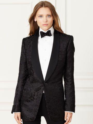 Silk Jacquard Tuxedo Jacket - Collection Apparel Jackets - RalphLauren.com