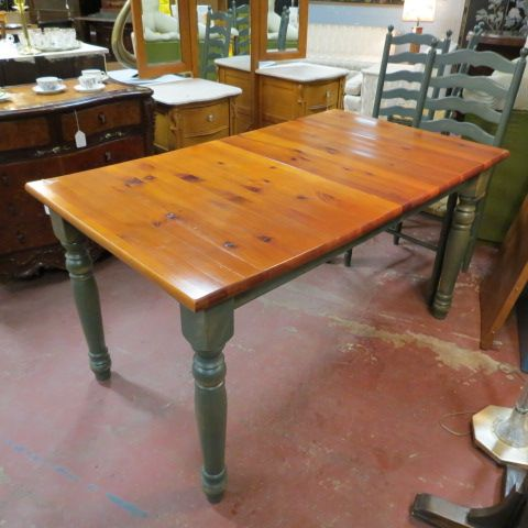now 150 originally 295 vintage pine top dining table - Green Kitchen Table