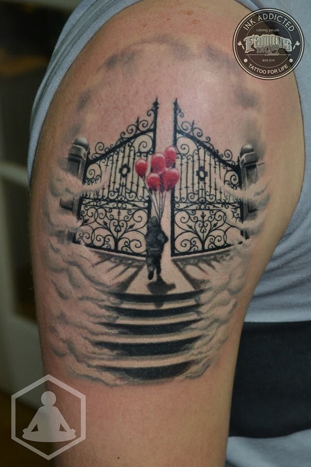 De 25 bedste id er inden for religious tattoos p for Tattoos of heaven