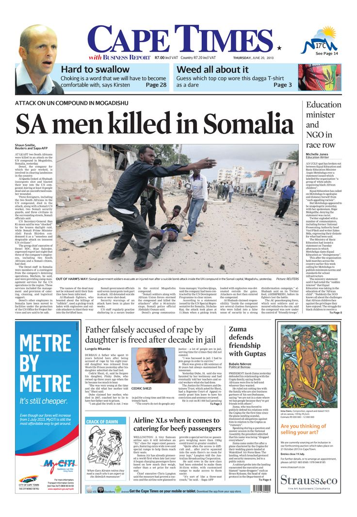 SA men killed in Somalia