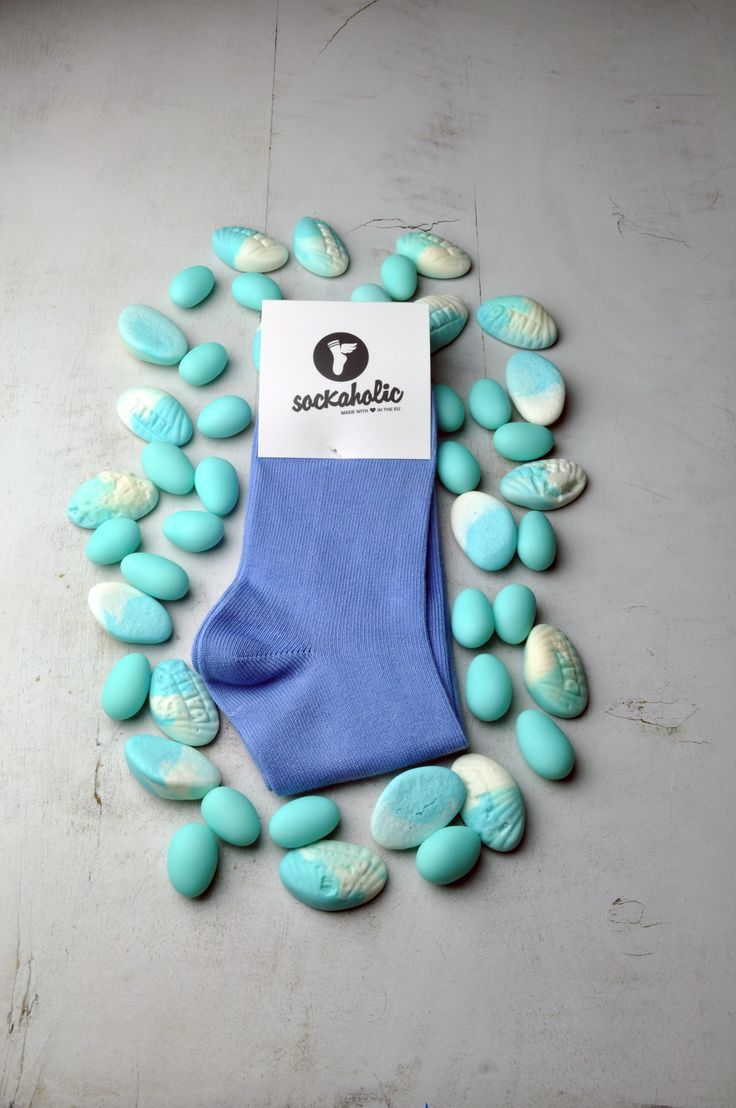 Blue #sockaholic #socks #blue #feelthecolor #color #sweet #sugar #candy