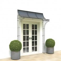 6 Porch Roof Shown With Curved Wirework Trellis Sides Over French Doors Built