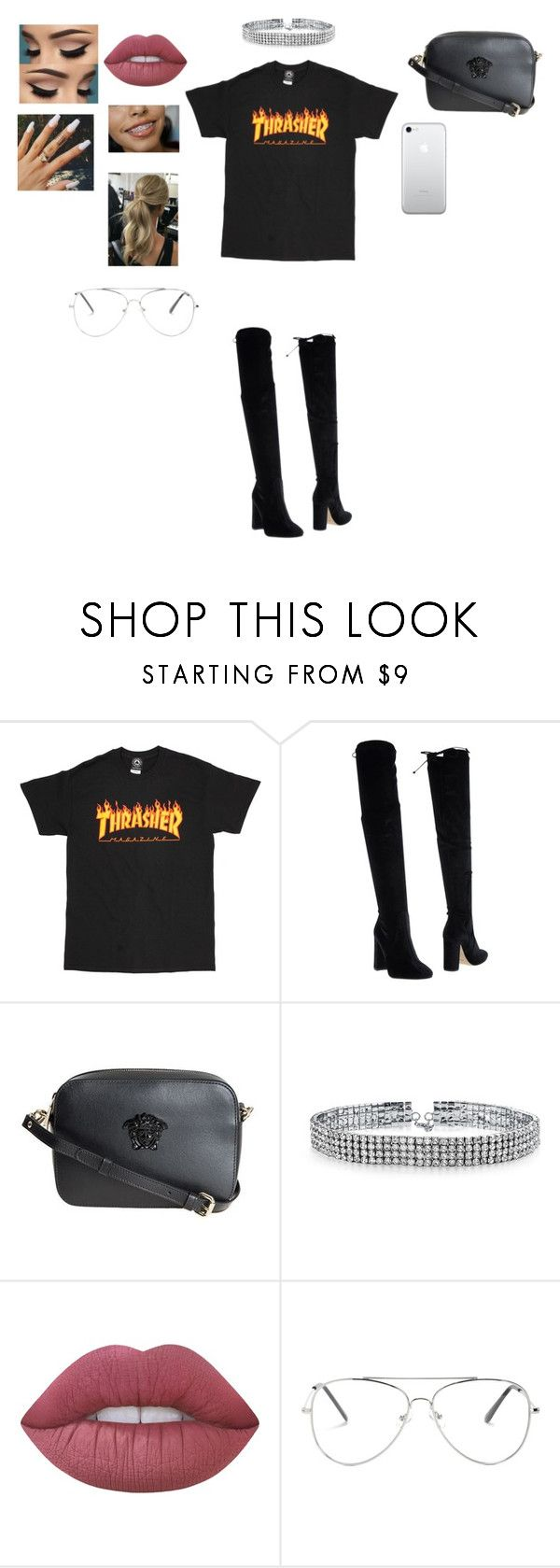 """""""Meeting William Singe"""" by babyceeee ❤ liked on Polyvore featuring Bianca Di, Versace, Bling Jewelry and Lime Crime"""