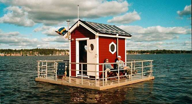 Utter Inn - Sweden, Europe.  A mini-hotel with underwater rooms that have a 360 view.  Cool.