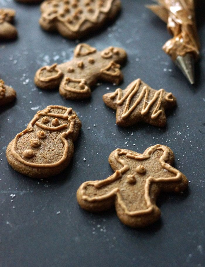 Vegan & Paleo Gingerbread Cookies. These cookies are SHOCKINGLY good and taste decadent with this Coconut Sugar Icing. Perfect for serving at a holiday party or potluck!