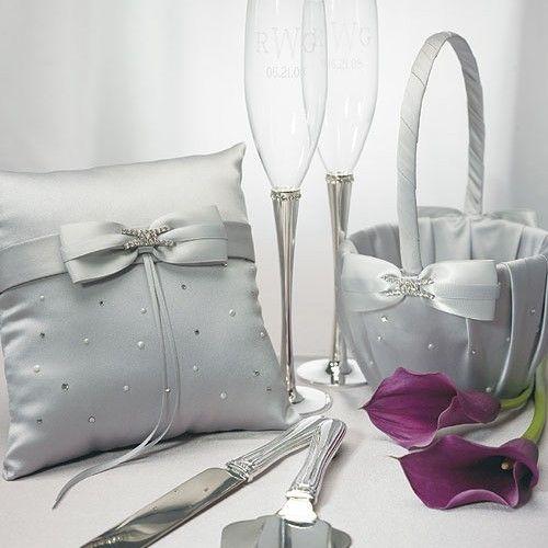Personalized Platinum By Design Wedding Accessories Set Weddingceremony Weddingreception Weddingcollection