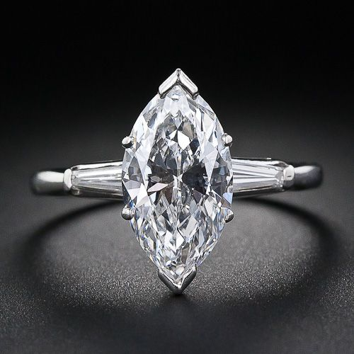 2.75 Carat Marquise Diamond Ring - Marquise is not my favorite cut, but that is a wow diamond.