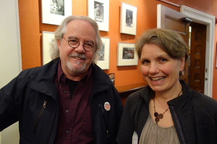 Brian Donnelly, Sheridan College, and Linda Gustafson, Counterpunch, at a talk by Paul Shaw at the Arts & Letters Club in Toronto, March 2017. Credit: Don McLeod.