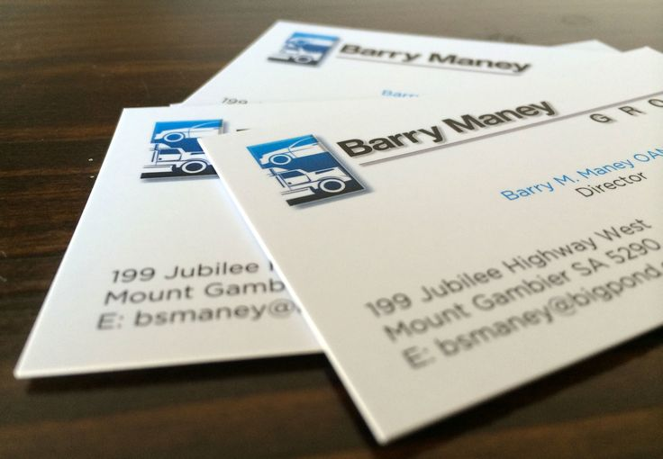 Business cards for Barry Maney of Barry Maney Group. #barrymaneygroup #businesscards #juliareader