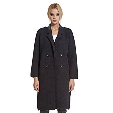 Women's Double Breasted Long Coat Synthetic Cashmere Full Sleeve Turn down Collar Pilipala VC17124 Review