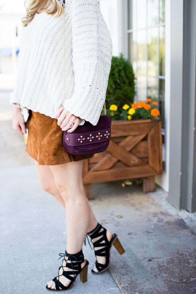 Fall Staple Pieces | Suede Skirt