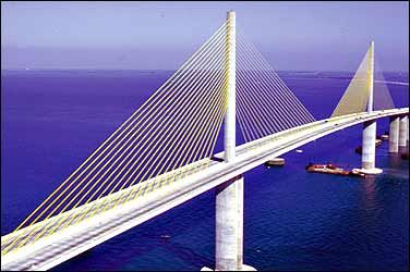 Sunshine Skyway Bridge outside St.Petersburg FL. I love this design and hope its used more often.