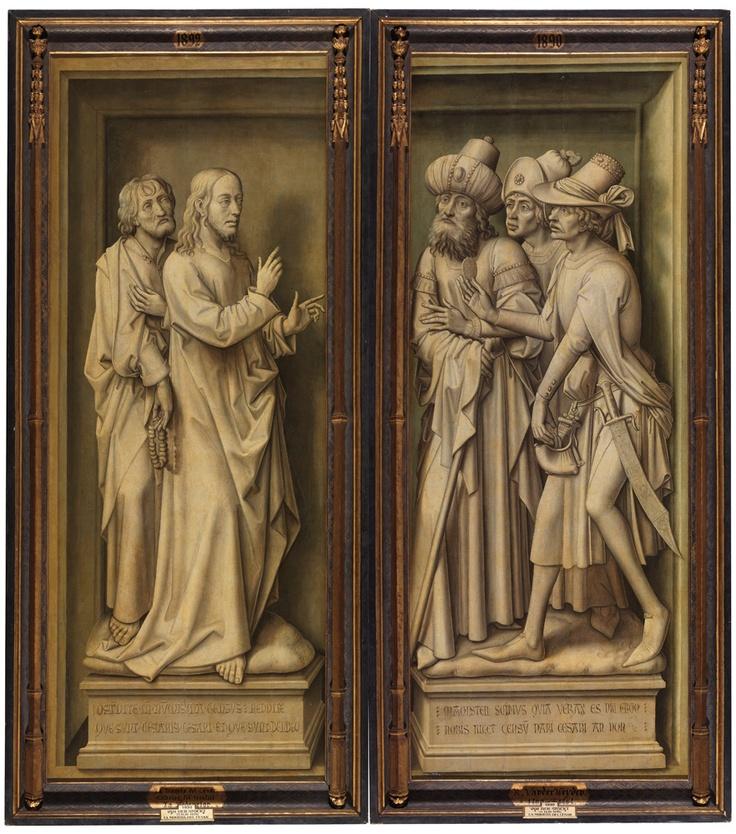 """""""La moneda del César"""", puertas exteriores del """"Tríptico de la Redención"""", Vrancke van der Stockt, 1455-60"""