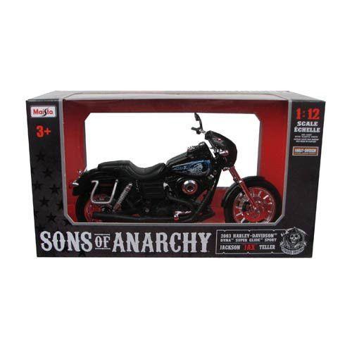 SONS OF ANARCHY Jax Teller's 2003 Dyna Glide Sport Motorcycle by Maisto 1:12   #Maisto #HarleyDavidson