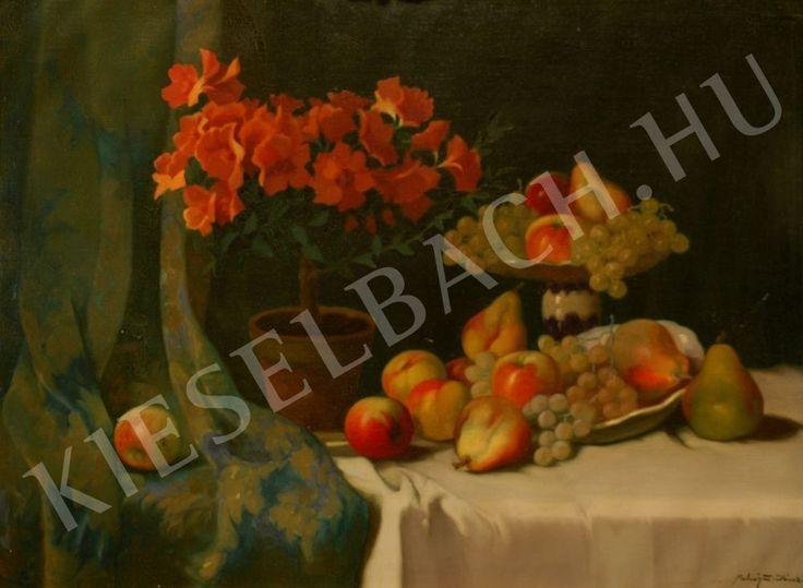Still-life with Fruits and Flowers - Z. János Molnár