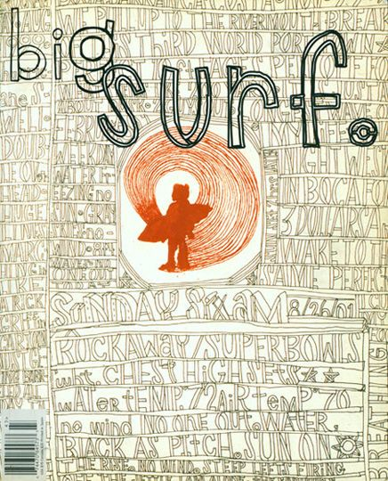 Collaboration between David Carson and George Bates for the BIG MAGAZINE Surf Issue. Also featured in my graphic design book guide > click thru