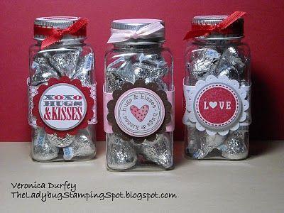 The Ladybug Stamping Spot: Valentine Treat Jar/ Tarrito de San Valentin