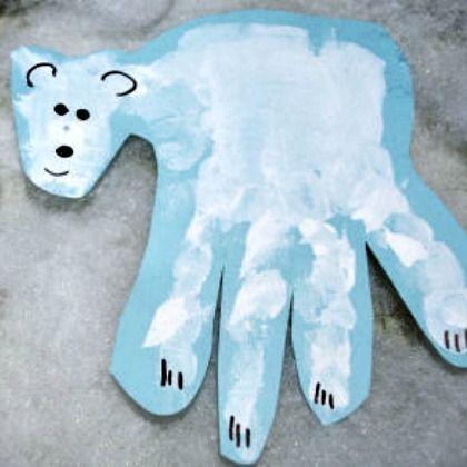 handprint polar bear