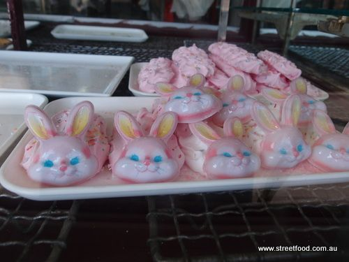Cute or evil (??!) bunny face meringues from Wilson's Cake Shop in Mascot.