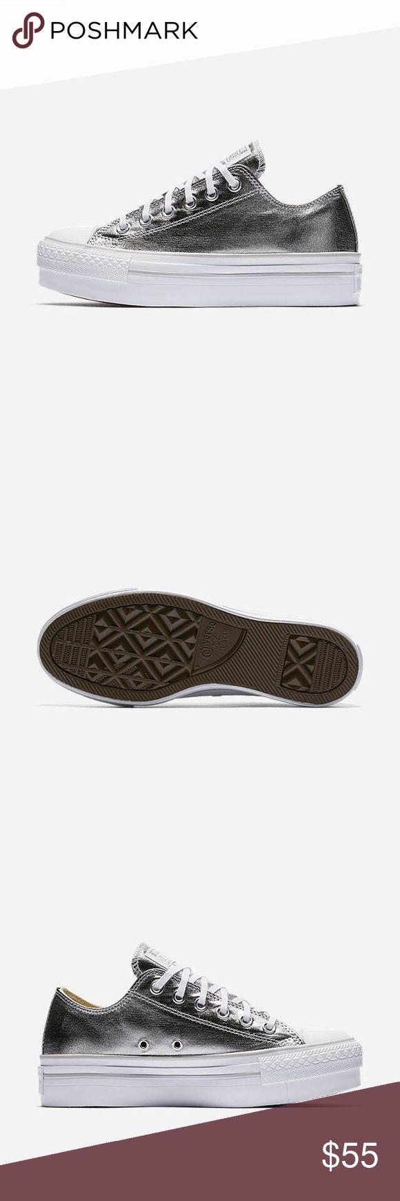 🌴☀️SALE! Converse platform metallic shoes WOMENS size 8 Converse Shoes Sneakers