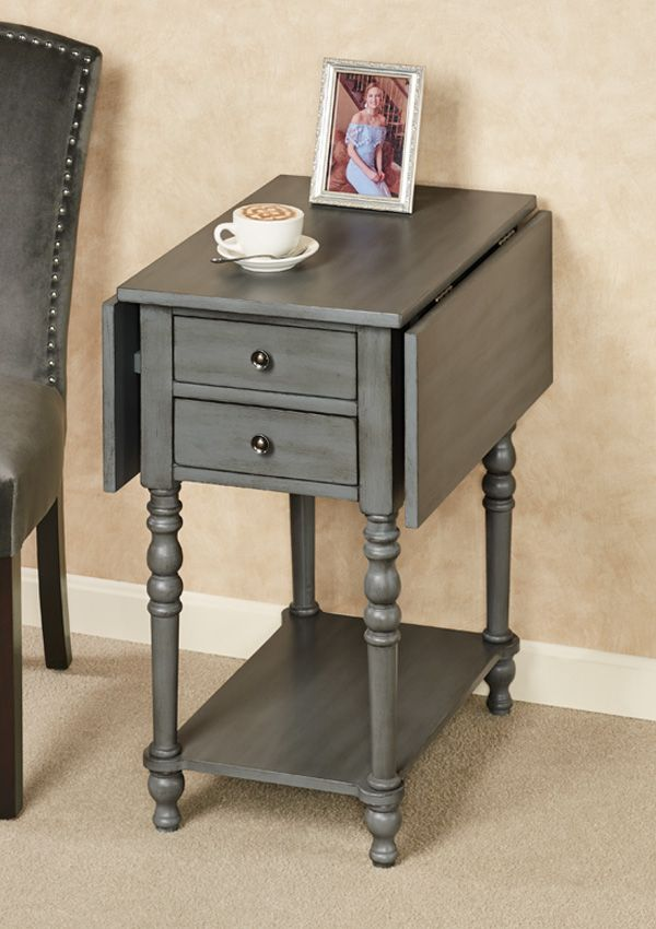 The Kimberly Drop Leaf Side Table Is Practical And Saves Space In