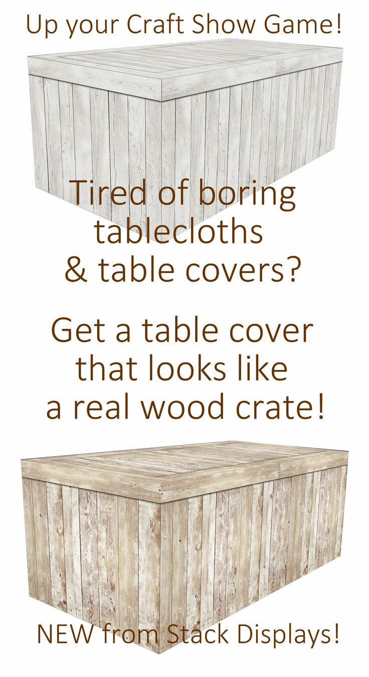 fitted table cover white washed wood crate
