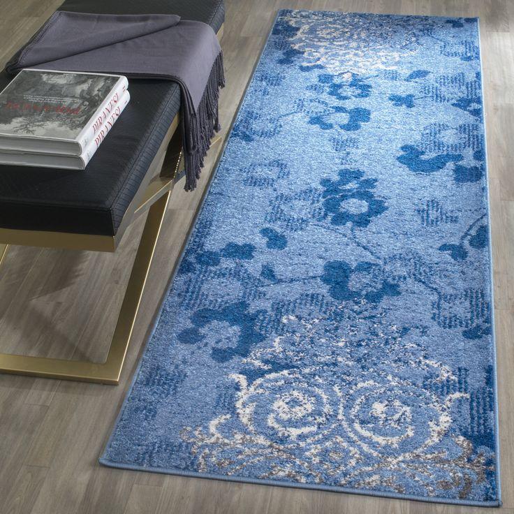 beth light bluedark blue area rug
