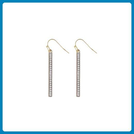 Diamond Bar Earrings Pave set 0.10 tcw Round Brilliant Cut Earrings Real Diamond G-H SI1 14 Karat Bar Diamond Earrings for Women Earrings Jewelry By Ballucci&Toosi - Wedding earings (*Amazon Partner-Link)