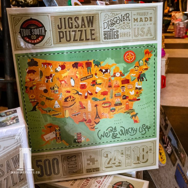 Weird and Wacky USA Map 500 Piece