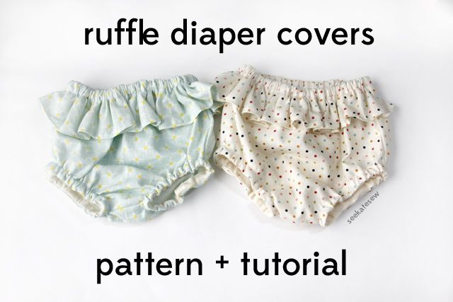 belly + baby // ruffle diaper covers pattern + tutorial | see kate sewsee kate sew