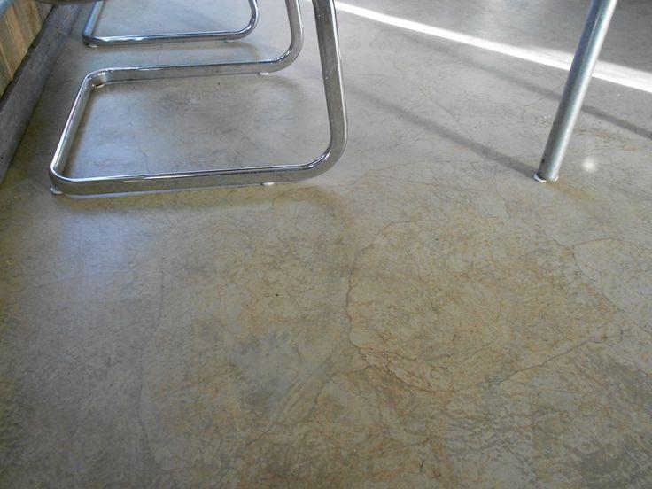 Decoupage Floor, reception area, Davidson Muffler Shop, McKinney, TX