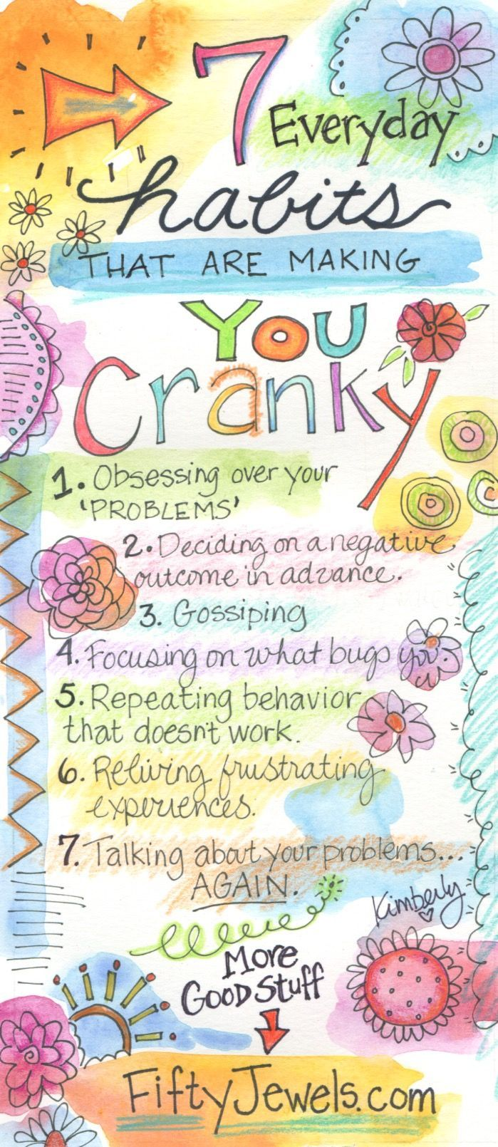 Feeling cranky is no fun!  Learn more about how to transform frustration into JOY! Pin for later & Click to learn more!  http://FiftyJewels.com #gratitude #happiness #happy