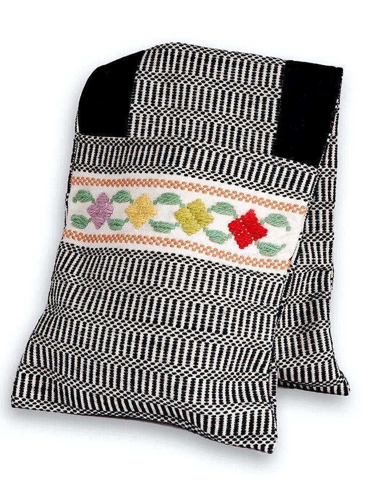 Sa Bértula, bisaccia tradizionale sarda, realizzata a mano, in cotone e lana sarda. Artigianato sardo. Anna Deriu, Bolotana