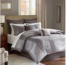 Tribeca 12 Piece Comforter Set - Queen - Grey