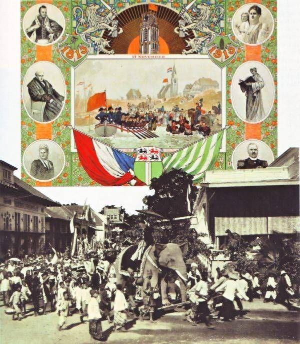 Viering van het eeuwfeest in 1913 van het herstel  van de onafhankelijkheid.
