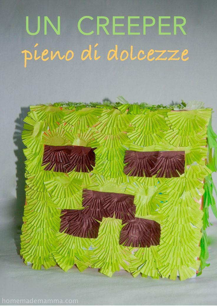 La pinata di Minecraft: un creeper pieno di dolcezze!