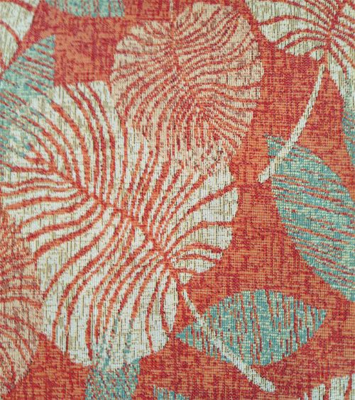 A Summer Home: Tropical Upholstery Fabric