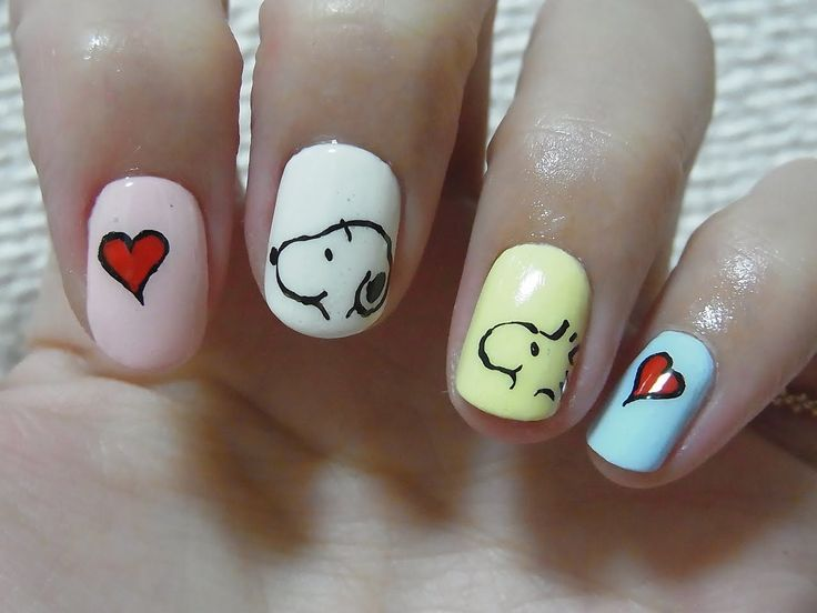 Enjoyable 1000 Ideas About Snoopy Nails On Pinterest Brown Nails Nails Easy Diy Christmas Decorations Tissureus