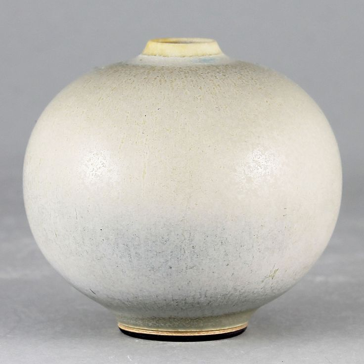 Berndt Friberg (1955) Unique Swelling Gray Haresfur Vase